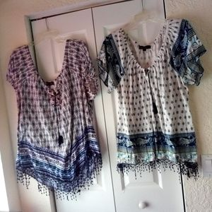 Lot of 2 from Woman within peasant style blouses